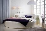 Дизайнерско кръгло легло луксозни
