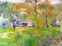 Авторска картина живопис В зеленото
