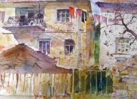 Авторска картина живопис Окъпани в светлина