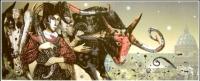 Авторска графика рисунка Трофеите на Ренесанса 2