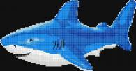 Мозайка за облицоване на стена - Акула